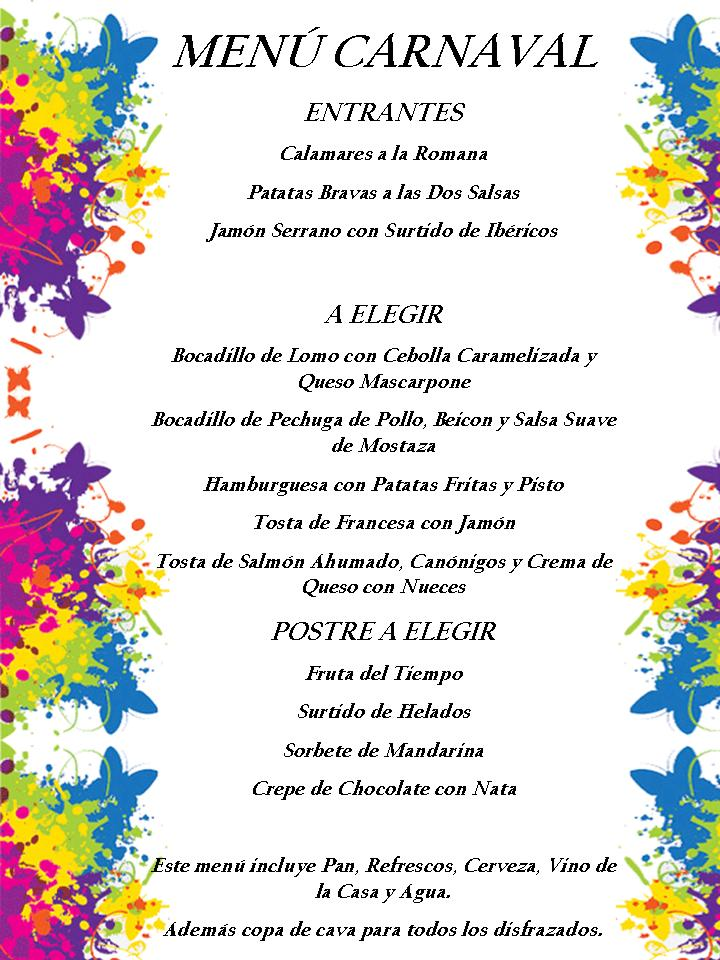 menu carnaval modificado